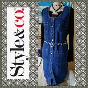 Gently Used Style & Co Denim Dress